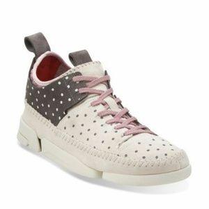 Clarks Trigenic Flex Nubuck Tennis Sport Shoe 9